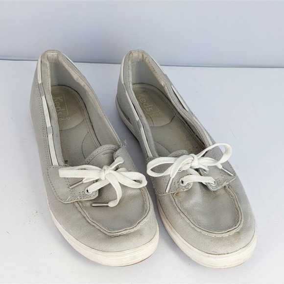 Keds Silver Metallic Slide Sneakers Women 8